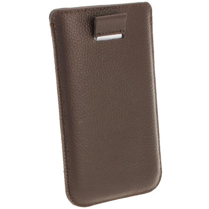 iGadgitz Brown Leather Pouch Case Cover for Samsung Galaxy S4 IV I9500 Android Smartphone Mobile Phone Thumbnail 4