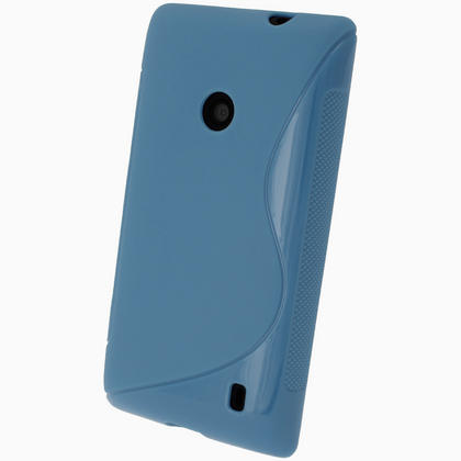 iGadgitz S Line Blue Gel Case for Nokia Lumia 520 + Screen Protector Thumbnail 3