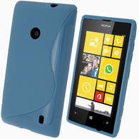 iGadgitz S Line Blue Gel Case for Nokia Lumia 520 + Screen Protector