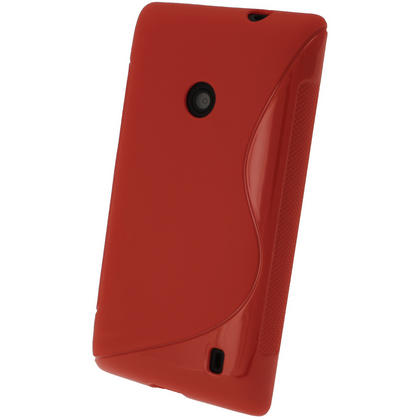 iGadgitz S Line Red Gel Case for Nokia Lumia 520 + Screen Protector Thumbnail 3