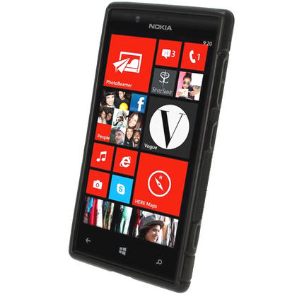 iGadgitz S Line Black Gel Case for Nokia Lumia 720 + Screen Protector Thumbnail 2