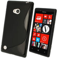 iGadgitz S Line Black Gel Case for Nokia Lumia 720 + Screen Protector