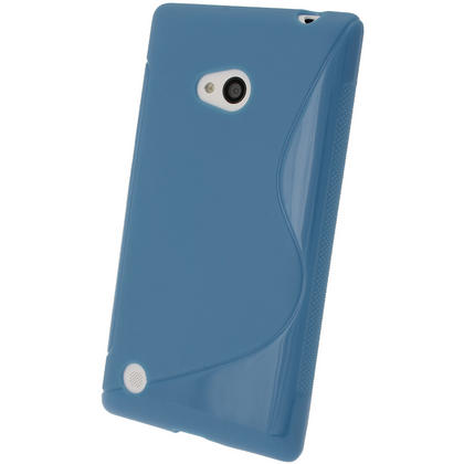 iGadgitz S Line Blue Gel Case for Nokia Lumia 720 + Screen Protector Thumbnail 3