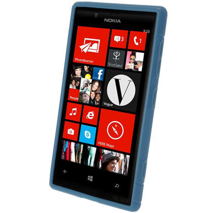 iGadgitz S Line Blue Gel Case for Nokia Lumia 720 + Screen Protector Thumbnail 2