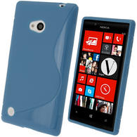 iGadgitz S Line Blue Gel Case for Nokia Lumia 720 + Screen Protector