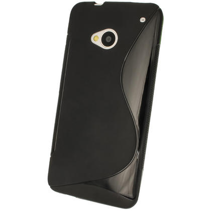 iGadgitz Dual Tone Black Gel Case for HTC One M7 + Screen Protector Thumbnail 3