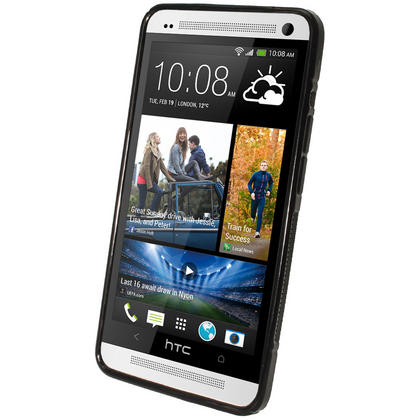 iGadgitz Dual Tone Black Gel Case for HTC One M7 + Screen Protector Thumbnail 2