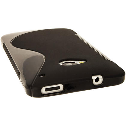 iGadgitz Dual Tone Black Gel Case for HTC One M7 + Screen Protector Thumbnail 5