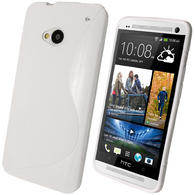 iGadgitz Dual Tone White Gel Case for HTC One M7 + Screen Protector