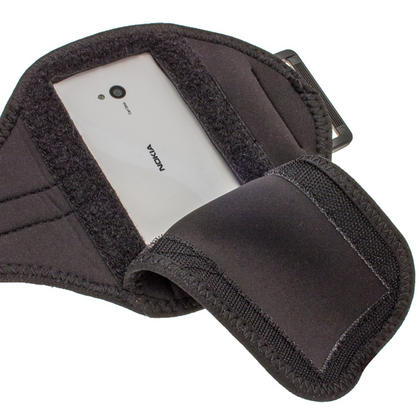 iGadgitz Black Neoprene Sports Gym Jogging Armband for Nokia Lumia 720 Windows Smartphone Mobile Phone Thumbnail 4