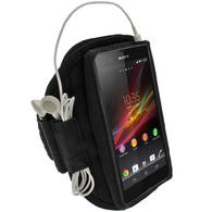 iGadgitz Black Neoprene Sports Gym Jogging Armband for Sony Xperia Z Android Smartphone Mobile Phone