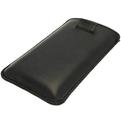 iGadgitz Black Leather Pouch Case Cover for Nokia Lumia 520 Windows Smartphone Mobile Phone Thumbnail 3