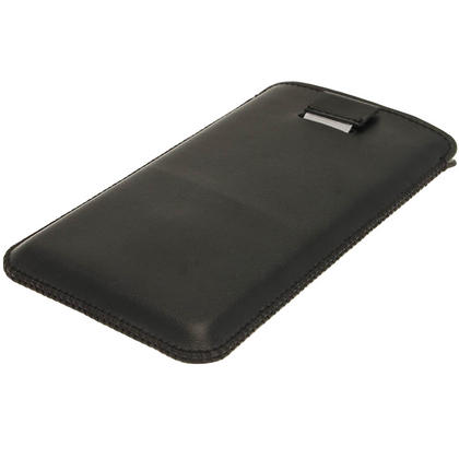 iGadgitz Black Leather Pouch Case Cover for Sony Xperia Z Android Smartphone Mobile Phone Thumbnail 3