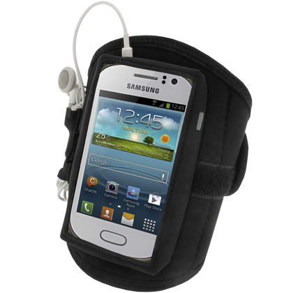 iGadgitz Black Neoprene Sports Gym Jogging Armband for Samsung Galaxy Fame S6810 Android Smartphone Mobile Phone Thumbnail 3