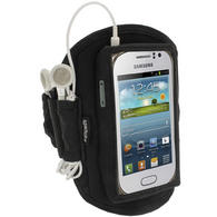 iGadgitz Black Neoprene Sports Gym Jogging Armband for Samsung Galaxy Fame S6810 Android Smartphone Mobile Phone