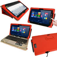 Red PU Leather