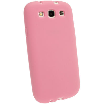 iGadgitz Baby Pink Silicone Skin Case Cover for Samsung Galaxy S3 III i9300 + Screen Protector Thumbnail 3