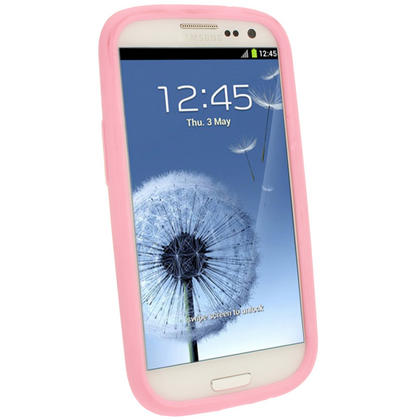 iGadgitz Baby Pink Silicone Skin Case Cover for Samsung Galaxy S3 III i9300 + Screen Protector Thumbnail 2