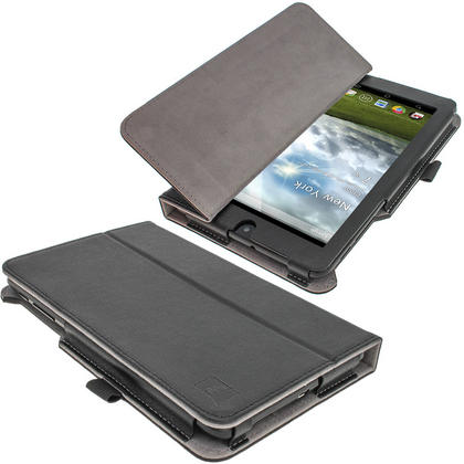 "iGadgitz Black 'Ergo-Portfolio' PU Leather Case for Asus MeMo Pad ME172V 7"" Tablet 16GB 32GB + Screen Protector Thumbnail 5"