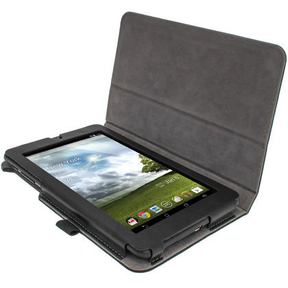 "iGadgitz Black 'Ergo-Portfolio' PU Leather Case for Asus MeMo Pad ME172V 7"" Tablet 16GB 32GB + Screen Protector Thumbnail 2"