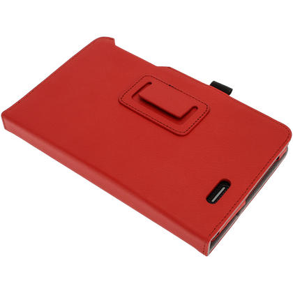 "iGadgitz Red 'Ergo-Portfolio' PU Leather Case for Asus MeMo Pad ME172V 7"" Tablet 16GB 32GB + Screen Protector Thumbnail 7"
