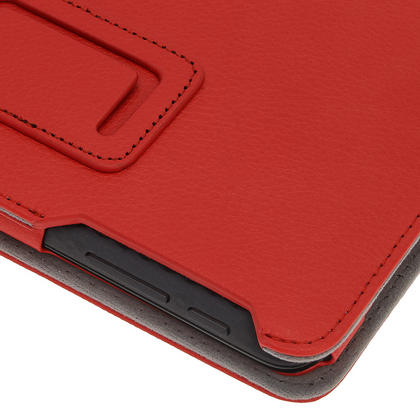 "iGadgitz Red 'Ergo-Portfolio' PU Leather Case for Asus MeMo Pad ME172V 7"" Tablet 16GB 32GB + Screen Protector Thumbnail 8"