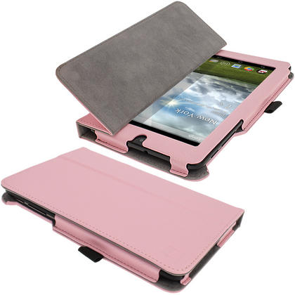 """iGadgitz Pink 'Ergo-Portfolio' PU Leather Case for Asus MeMo Pad ME172V 7"""" Tablet 16GB 32GB + Screen Protector Thumbnail 5"""