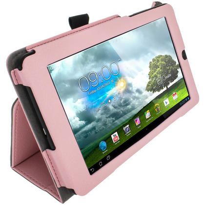 """iGadgitz Pink 'Ergo-Portfolio' PU Leather Case for Asus MeMo Pad ME172V 7"""" Tablet 16GB 32GB + Screen Protector Thumbnail 4"""