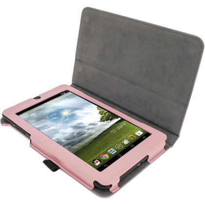 """iGadgitz Pink 'Ergo-Portfolio' PU Leather Case for Asus MeMo Pad ME172V 7"""" Tablet 16GB 32GB + Screen Protector Thumbnail 2"""