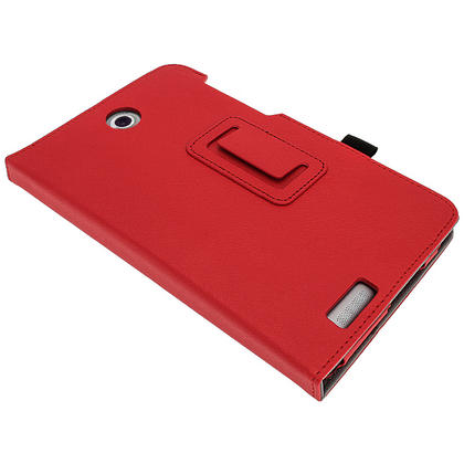 "iGadgitz Red 'Ergo-Portfolio' PU Leather Case for Asus Fonepad ME371MG 7"" Tablet 16GB 32GB + Screen Protector Thumbnail 8"