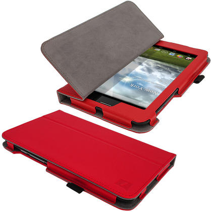 "iGadgitz Red 'Ergo-Portfolio' PU Leather Case for Asus Fonepad ME371MG 7"" Tablet 16GB 32GB + Screen Protector Thumbnail 5"
