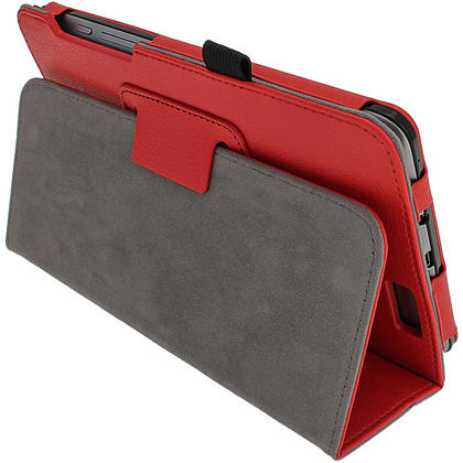 "iGadgitz Red 'Ergo-Portfolio' PU Leather Case for Asus Fonepad ME371MG 7"" Tablet 16GB 32GB + Screen Protector Thumbnail 3"