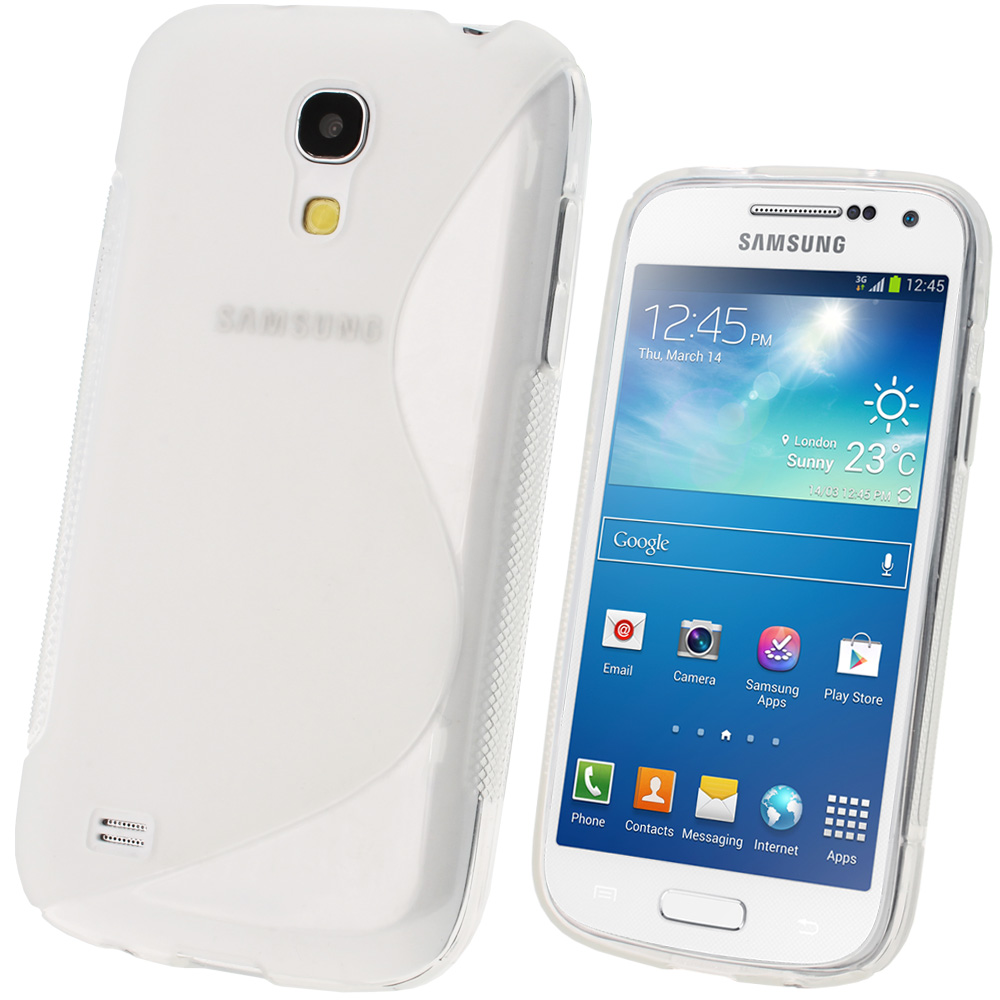 iGadgitz S Line Clear Gel Case for Samsung Galaxy S4 SIV Mini I9190 I9195 + Screen Protector