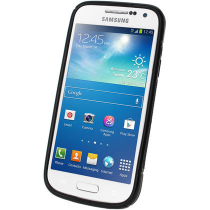 iGadgitz S Line Black Gel Case for Samsung Galaxy S4 SIV Mini I9190 I9195 + Screen Protector Thumbnail 2