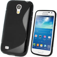 iGadgitz S Line Black Gel Case for Samsung Galaxy S4 SIV Mini I9190 I9195 + Screen Protector
