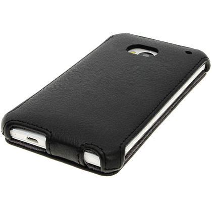 iGadgitz PU Leather Flip Case for HTC One M7 Android Mobile Phone (various colours) Thumbnail 2