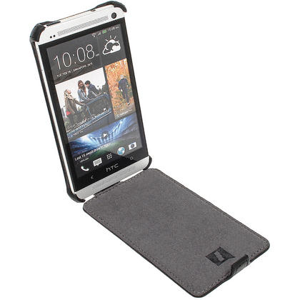 iGadgitz PU Leather Flip Case for HTC One M7 Android Mobile Phone (various colours) Thumbnail 3