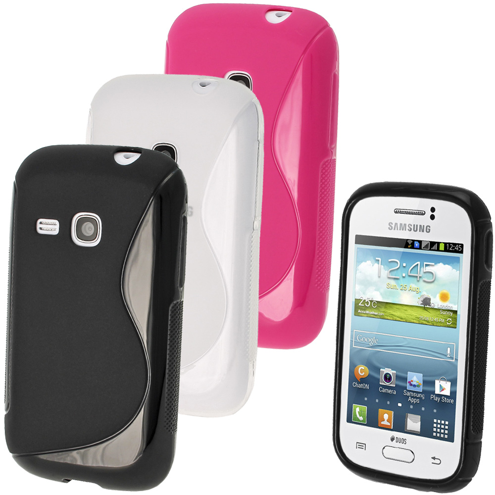 iGadgitz S Line Crystal Gel Case for Samsung Galaxy Young S6310 + Screen Protector (various colours)