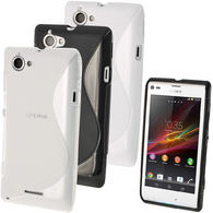 iGadgitz S Line Crystal Gel Case for Sony Xperia L Smartphone + Screen Protector (various colours)