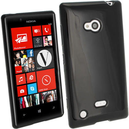 iGadgitz Glossy Crystal Gel Case for Nokia Lumia 720 Windows Smartphone + Screen Protector (various colours) Thumbnail 2