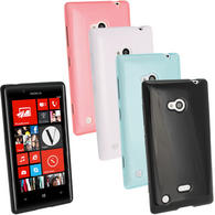 iGadgitz Glossy Crystal Gel Case for Nokia Lumia 720 Windows Smartphone + Screen Protector (various colours)