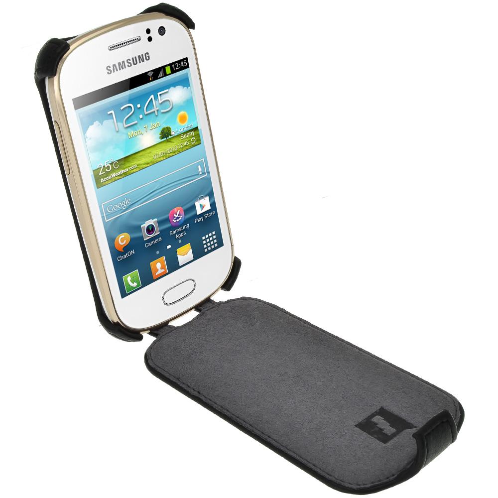 IGadgitz PU Leather Flip Case For Samsung Galaxy Fame