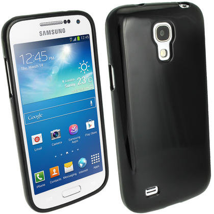 iGadgitz Glossy Crystal Gel Case for Samsung Galaxy S4 IV Mini I9190 I9195 + Screen Protector (various colours) Thumbnail 2