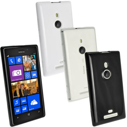 iGadgitz Glossy Crystal Gel Case for Nokia Lumia 925 Windows Smartphone + Screen Protector (various colours) Thumbnail 1