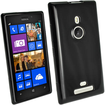 iGadgitz Glossy Crystal Gel Case for Nokia Lumia 925 Windows Smartphone + Screen Protector (various colours) Thumbnail 2