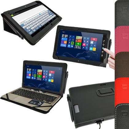 "iGadgitz 'Portfolio' Genuine Leather Case for Asus Vivo Tab TF810C TF810 11.6"" Tablet & Keyboard Dock (various colours) Thumbnail 1"