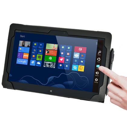 "iGadgitz 'Portfolio' Genuine Leather Case for Asus Vivo Tab TF810C TF810 11.6"" Tablet & Keyboard Dock (various colours) Thumbnail 4"