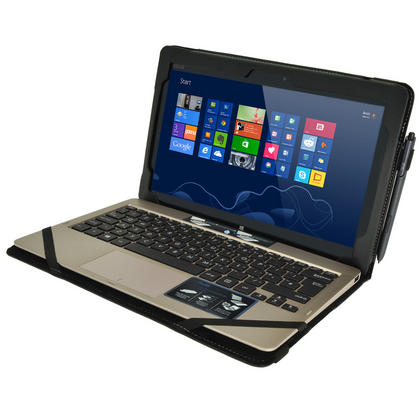 "iGadgitz 'Portfolio' Genuine Leather Case for Asus Vivo Tab TF810C TF810 11.6"" Tablet & Keyboard Dock (various colours) Thumbnail 3"