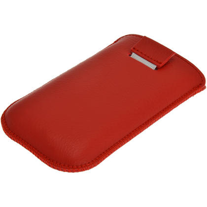 iGadgitz Red Leather Pouch Case Cover for Samsung Galaxy Fame S6810 Android Smartphone Mobile Phone Thumbnail 3