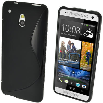 iGadgitz S Line Crystal Gel Case for HTC One Mini M4 Android Smartphone + Screen Protector (various colours) Thumbnail 2